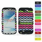 Samsung Galaxy Note 2 II Colorful Chevron Wave Hybrid Rugged Impact Case Cover