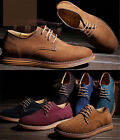 New Men's Retro Genuine Suede Lace Up Casual Loafers Brogue Elite Business Shoes