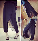 Summer new women elegant stitching thin trousers casual pants loose harem pants