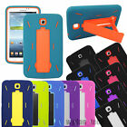 For Samsung Galaxy Tab Hybrid Impact Stand Hard Silicone Soft Case Tablet Cover