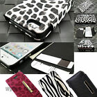 For Apple iPhone 4 4S 5 5S Case Leather Credit Card Slot Holder Wallet Cover