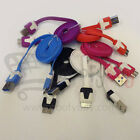 S4FLT-USBWIR FLAT NOODLE SYNC 2.0 USB Charging Data cable GALAXY S4 NOTE 2