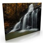 Red Autumn Waterfall forest Canvas Print Wall Art Picture Many Sizes A0 A1 A2 A3
