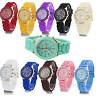 Fashion Unisex Geneva Silicone Jelly Gel Quartz Analog Sports Wrist Watch M02 UK