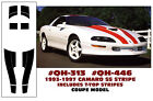 QH-313 QH-446 1993-97 CAMARO SS - COUPE STRIPES with T-TOP STRIPES