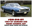 QH-214-ST 1967-68 CHEVY CAMARO Z28 - HOOD and TRUNK PAINT STENCIL - COMPLETE KIT