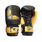 KIDS BOXING GLOVES MACHINE MOULDED FOAM FIGHT PUNCH REX LEATHER MUAY THAI MMA