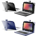 10 10.1 10.2 Inch Leather USB Keyboard Case Cover for Android Tablet PC +Stylus