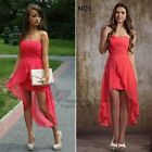 New Red Short Front Long Back Sexy Bridesmaid/Prom Dresses Size 6 8 10 12 14 16+