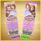 12 Printed Custom photo SOFIA THE FIRST birthday Ticket Invitations card