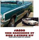A600 1968 FORD RANCHERO GT - SIDE C-STRIPE KIT - DECAL