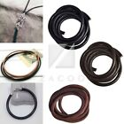 1m Real Round Leather Cord Thong 4/5/6mm Thread Wire DIY Jewelry Bracelet Making
