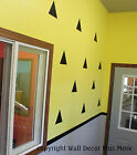 Peel-n-Stick TRIANGLE Wall Vinyl Stickers 12pc 6inch Fun Easy Decor NEW
