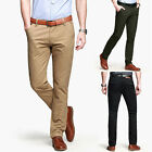 2014 NEW Style Korean Men's Stylish Slim Fit Causal 100% Cotton Trousers Pants
