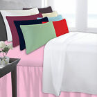 SUPER KING SIZE FITTED SHEET 180 THREAD COUNT PERCALE PLAIN DYED VARIOUS COLOURS