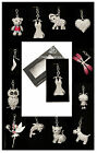 Sparkle Bling Diamante Keyrings In Many Designs With Gift Box New Key Ring Gifts