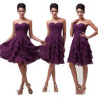 Elegant Lady Mini Ball Gown Tiered Brides Formal Evening Party Cocktail GK Dress