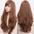 Fashion Womens Girl Long Wavy Curly Full Hair Wig Cosplay Party Wigs Costume