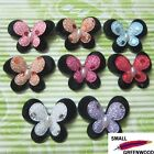"(U Pick) 40 Pcs 1-3/8"" Padded Felt 2-Layer Butterfly Appliques B0840"