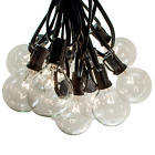 G50 Clear Outdoor Patio Globe String Lights (100', 50' and 25' Lengths)
