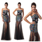 Strapless Bridesmaid Formal Homecoming Evening Prom Evening Long Gown Dresses