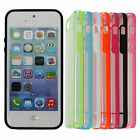 7 Colors New Simple Thin Transparent Crystal Hard TPU Case Cover For iPhone 5/5S