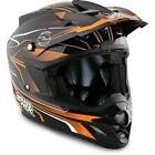 Answer Comet React Adults Motocross Enduro MX Quad Helmet - Black/ Orange
