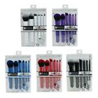 Moda Total Face Professional Make Up Brush Set. White Blue Red Purple Black