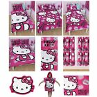 HELLO KITTY INK MATCHING BEDDING AND BEDROOM ACCESSORIES CHILDRENS NEW DESIGN