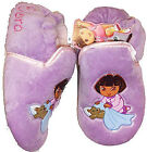 Girls NEW Dora the Explorer Bedtime Soft SLIPPERS Lilac Sizes 4  or 6   Infants