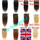 """15""""18"""" 20"""" 7Pcs Clip In Remy Human Hair Extensions 70g UK 20 Colors"""