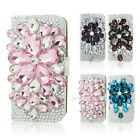Full Bling Diamond Flip White Leather Case Cover For Samsung Galaxy Note 3 N9000