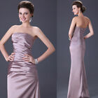 Strapless Formal Long Ball Gown Party Bridesmaid Evening Dress Size 6-8-10-12 14
