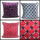 Cushions Velour Velvet 3d Raised Scatter Cushions or Covers Red Purple Silver