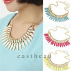 Elegant Womens Occident Turquoise Crystal Exquisite Tassel Choker Necklace