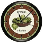 ARTICHOKES WALL CLOCK PERSONALIZED GIFT KITCHEN DECOR VEGETABLE HOUSE WARMING