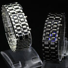 Newest Fashion Gift For Lovers Mens Womens Stainless Steel Band LED Wrist Watch