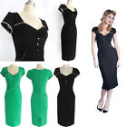 50s 60s Vintage Women's Pinup Rockabilly Retro Evening Prom Dresses Pencil Dress