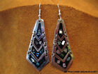 NEW ABALONE SHELL & ENAMEL EARRINGS TAXCO MEXICO YOUR CHOICE OF 15 ARTIST STYLES