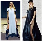Harem Superfine Open Side Cut Out Long Maxi T Shirt Prom Party Beach Dress Hot-H