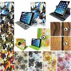 Printed PU Leather Folio Flip Stand Case Cover For iPad Mini 1 2 Retina+Film