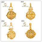 Angel Caller 18K Yellow Gold Filled Harmony Ball Chime Sound Pendant Locket Gift