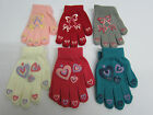 Girls RJM Magic Gloves Rubber Bow or Heart Design One Size Style GL108