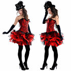 Adults Longer Red Black Burlesque TuTu Mini Skirt Dress Up Sexy 6 8 10 12 14 16