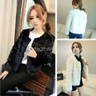 Chic Women's Elegant Solid Color OL Winter Warm Outwear Coat 3 Color W4228 FUS