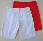 New Ralph Lauren Sport Women Pony Shorts White Red 4 6