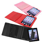 Leather Case Cover with USB Bluetooth Wireless Keyboard for Apple iPad  2 3 4
