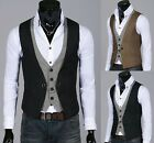 POP Morden Men's Top Designed Casual Slim Fit Skinny Dress Vest Waistcoat UKLO