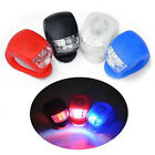 2Pc Cycling Bike Bicycle Silicone Beetle Frog Head Front Light 2 LED Lamp 3Modes