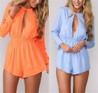 New Sexy Womens Hollow See-through Jumpsuits Playsuits Bodycon Romper Clubwear